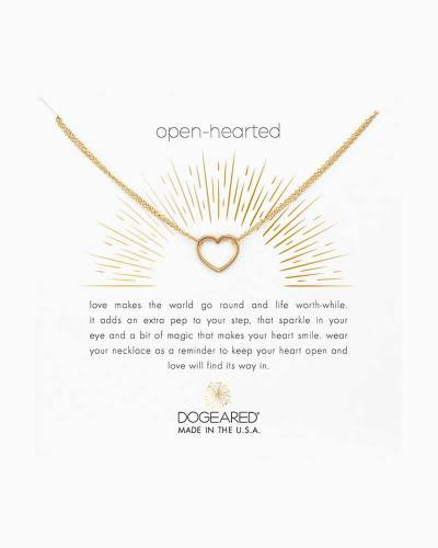 Open-Hearted Gold Necklace