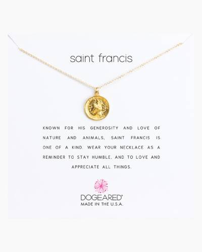 Saint Francis Gold-Plated Necklace