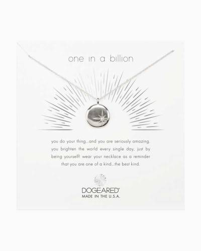 One in a Billion Star Disc Necklace in Silver