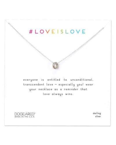Love is Love Teeny Ring Necklace in Sterling Silver