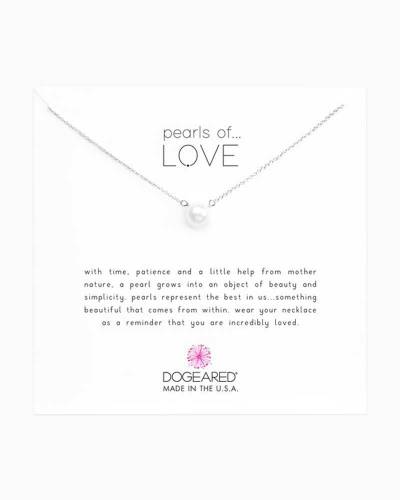 Sterling Silver Pearls of Love Necklace