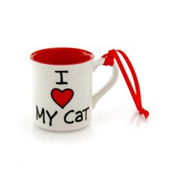 Our Name Is Mud I Heart Cat Mug Ornament