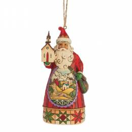 Jim Shore Santa Church Scene Hanging Ornament