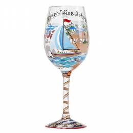 Lolita Anchors Away Wine Glass