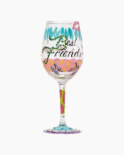 Best Friends Always Wine Glass
