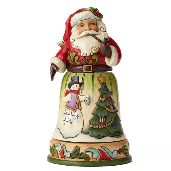 Jim Shore Decking Halls and Making Merry Rotatable Santa with Tree Scene Figurine