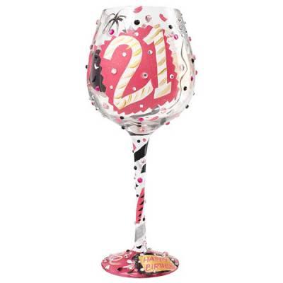 21 Bling Wine Glass