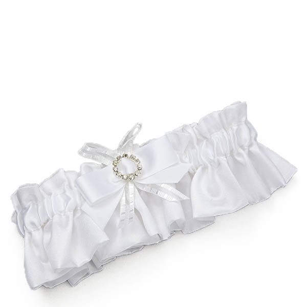 Enesco White Wedding Garter