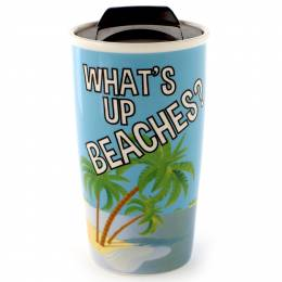 Our Name Is Mud What's Up Beaches? Travel Mug