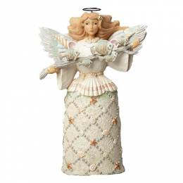 Jim Shore Coastal Angel with Fish Figurine