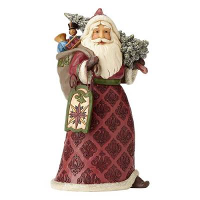 Victorian Santa with Sled Figurine