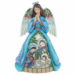 Jim Shore Praise Thee with the Joy of Angels Nativity Scene Figurine