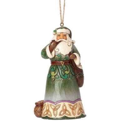 Irish Santa with Pipe Hanging Ornament
