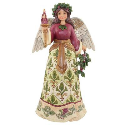 Victorian Angel with Candle Figurine