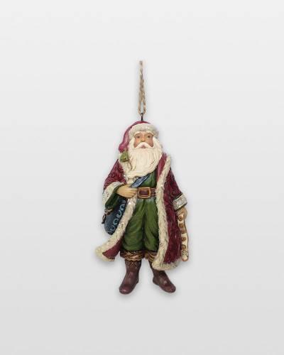 Victorian Santa with Satchel Ornament