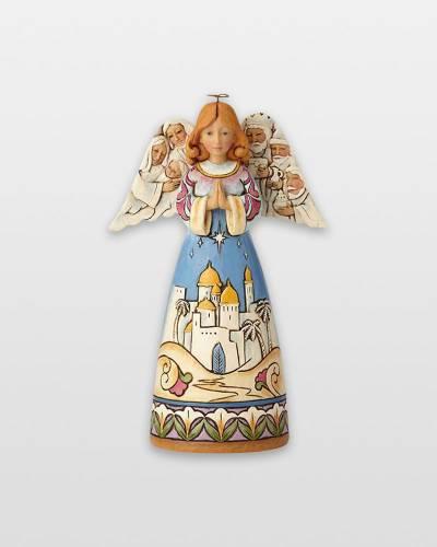 Angel Figurine with Nativity Scene