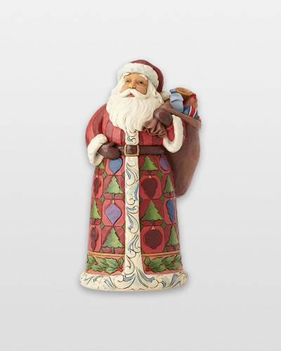 Santa Figurine with Toy Bag