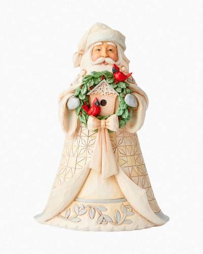 White Woodland Santa Figurine