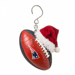 Evergreen Enterprises New England Patriot Football With Santa Hat Ornament