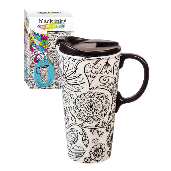 Evergreen Enterprises Just Add Color Travel Tumbler and Markers Set