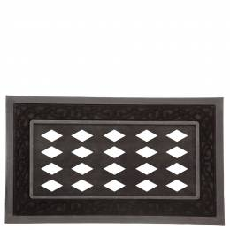 Sassafras Black Scroll Interchangeable Welcome Mat
