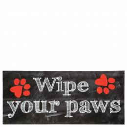 Sassafras Wipe Your Paws Welcome Mat Insert