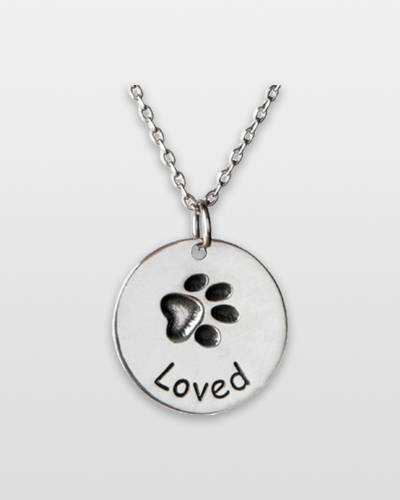 You Are Loved Paw Pendant Necklace