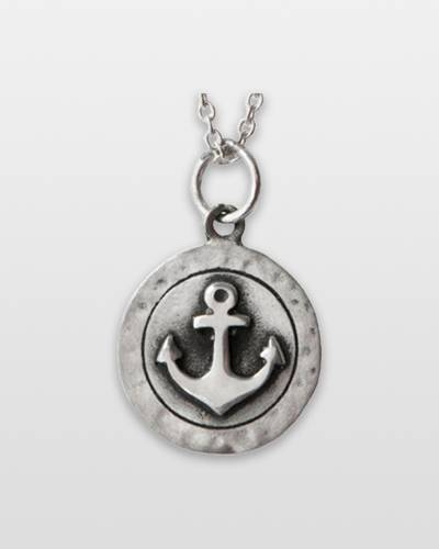 Textured Anchor Pendant Necklace Necklace