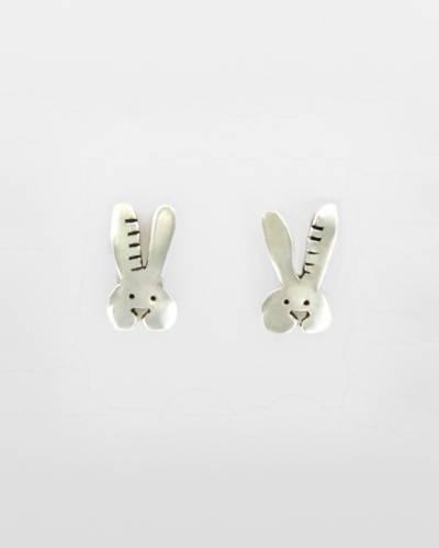 Bunny Earrings in Sterling Silver