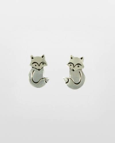 Fox Earrings in Sterling Silver