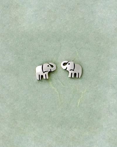 Elephant Earrings in Sterling Silver