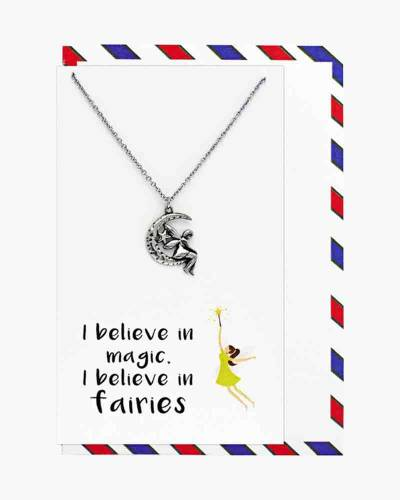 Silver Believe in Magic and Fairies Necklace