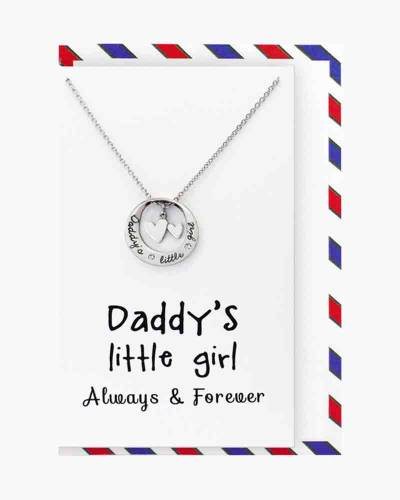 Silver Daddy's Little Girl Necklace