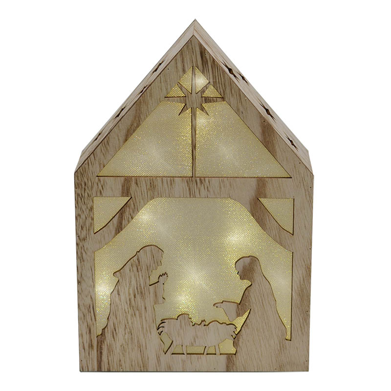 Feldstein & Associates Light-Up Nativity with Star