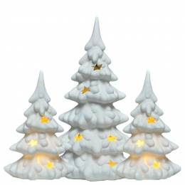 Feldstein & Associates Porcelain Light-Up Tree Set