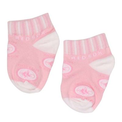 Pink Boston Red Sox Infant Socks
