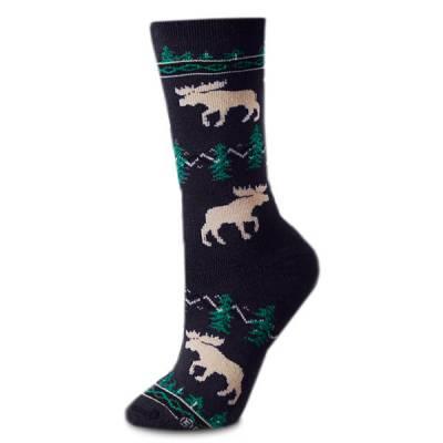 Moose Silhouette Socks
