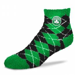 For Bare Feet Boston Celtics Argyle Sleepsoft Socks