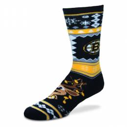 For Bare Feet Boston Bruins Ugly Christmas Socks
