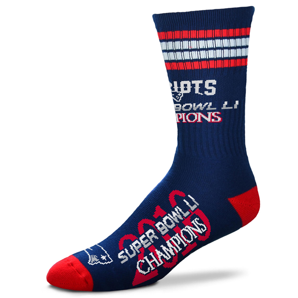 For Bare Feet New England Patriots Super Bowl LI Champions Socks