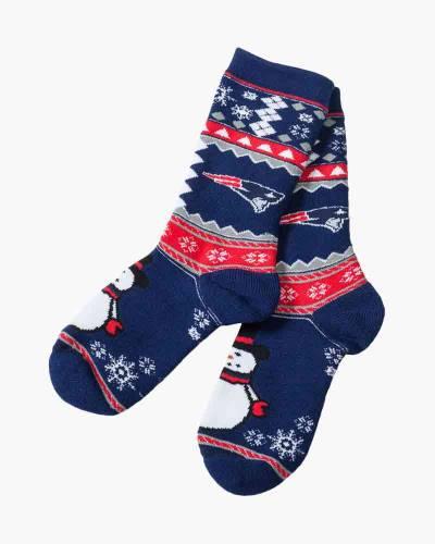 New England Patriots Snowman Socks