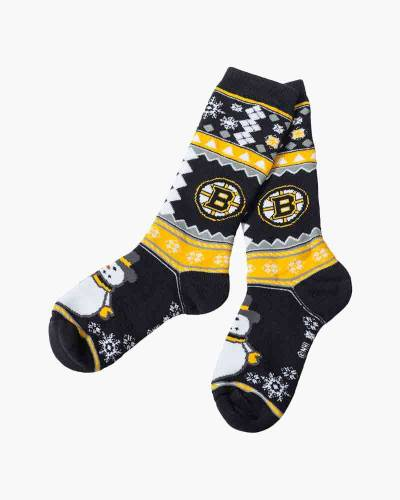 Boston Bruins Snowman Socks