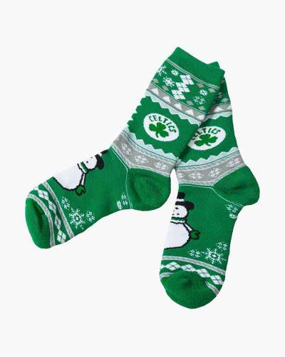 Boston Celtics Snowman Socks
