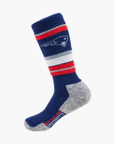 New England Patriots Thick Striped Socks