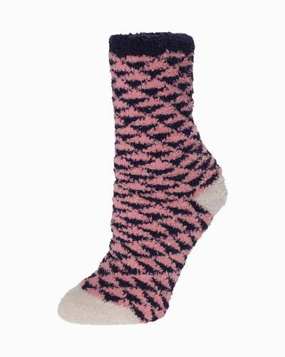 Exclusive Pink and Black Triangles Soft Butter Socks