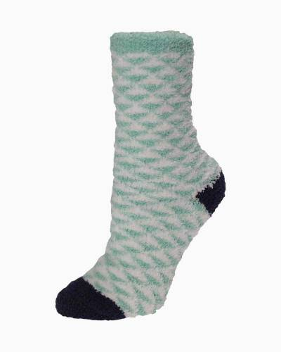 Exclusive Green and White Triangles Soft Butter Socks