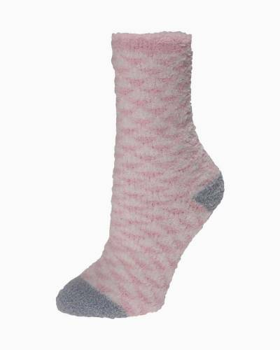 Exclusive Pink and White Triangles Soft Butter Socks