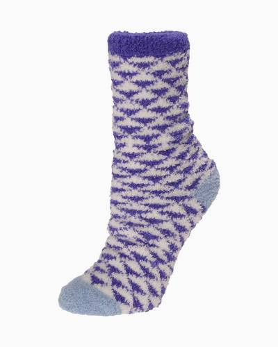 Exclusive Purple and White Triangles Soft Butter Socks