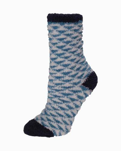 Exclusive Blue and White Triangles Soft Butter Socks