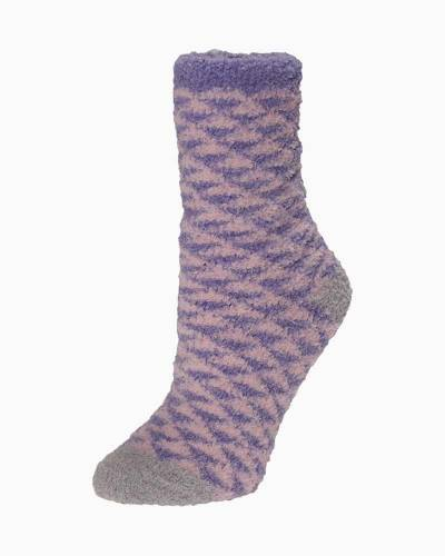 Exclusive Purple and Pink Triangles Soft Butter Socks